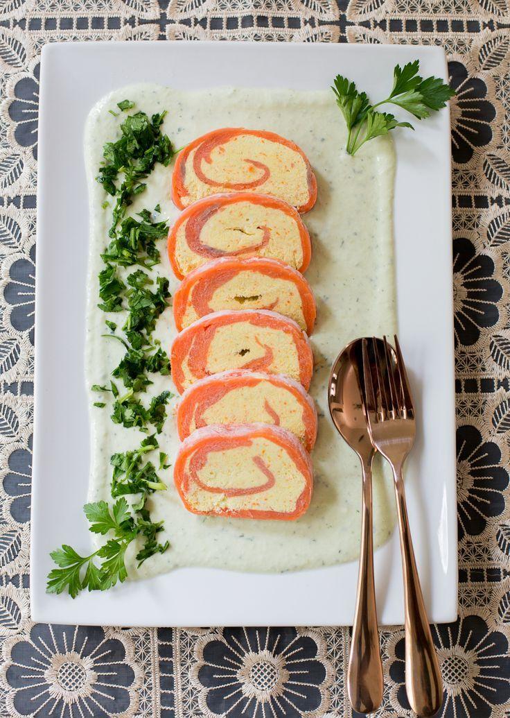 Entrada de salmón ahumado y queso crema, la puedes hacer con anticipación. Patrocinada por @dairygood #ad #UndeniablyDairy