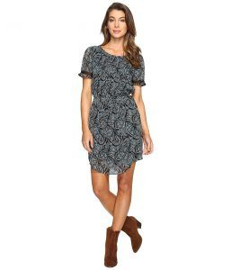 Lucky Brand Night Out Dress (Black Multi) Women's Dress