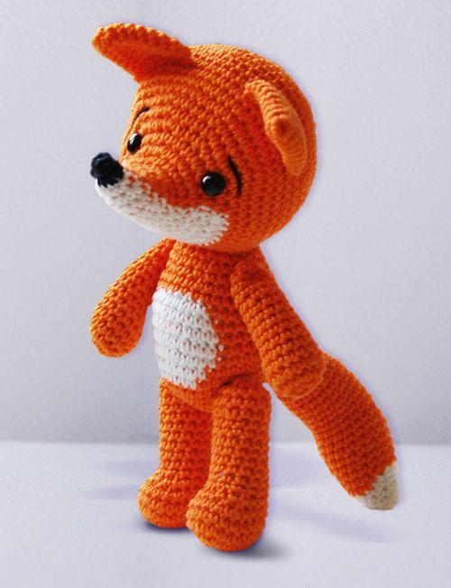 cute crochet fox amigurumi