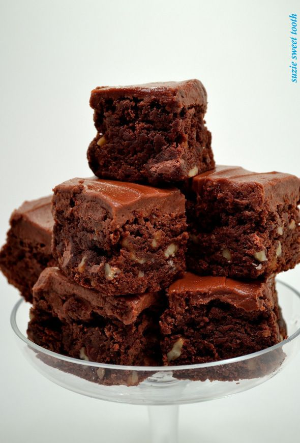 Fudgy Brownies with Milk Chocolate Frosting