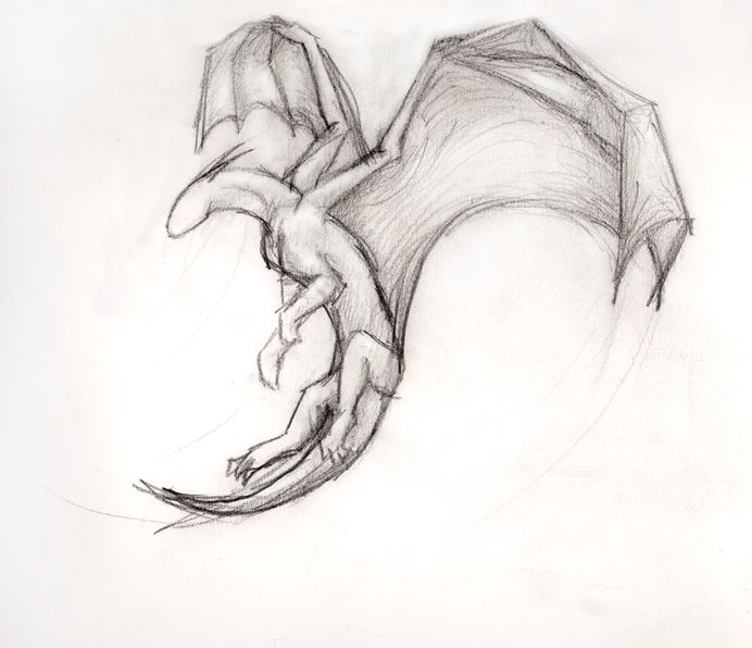 сильный картинки летящего дракона карандашом архимед, живший