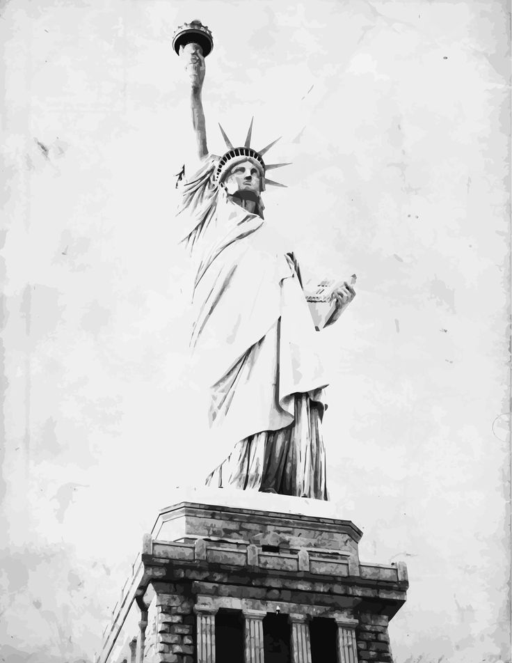 liberty fading vector art
