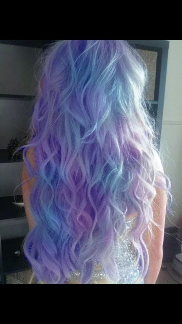 Lavender, ice blue and orchid