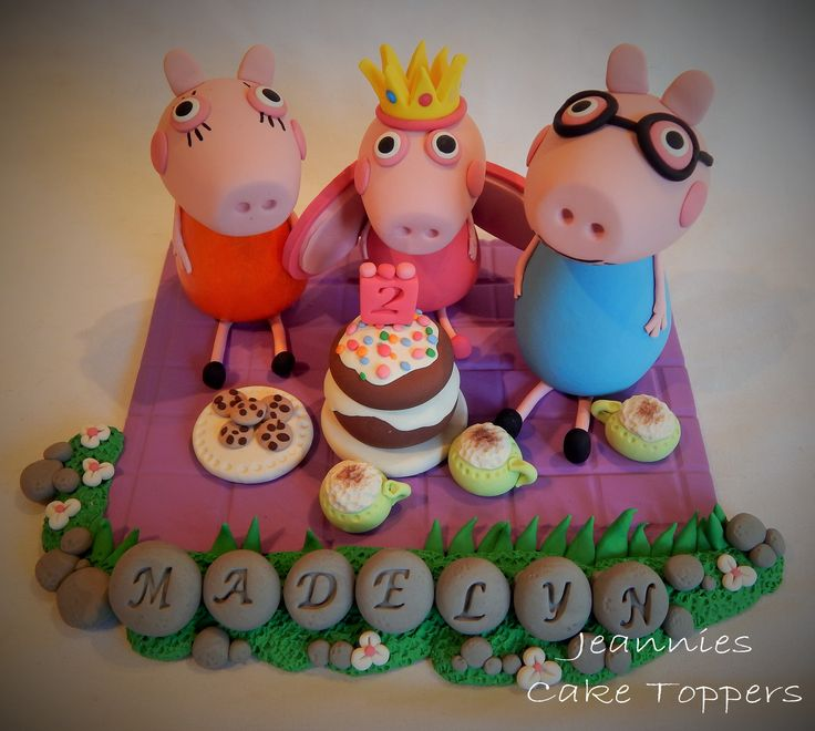 Polymer clay Peppa pig family