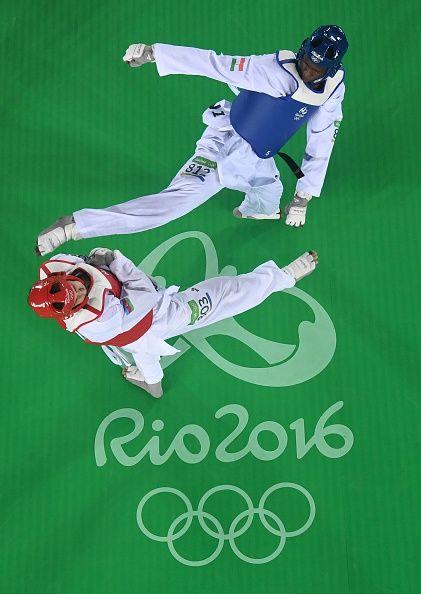 Rio Olympics | taekwondo | Azerbaijan's Radik Isaev competing against Dominican…