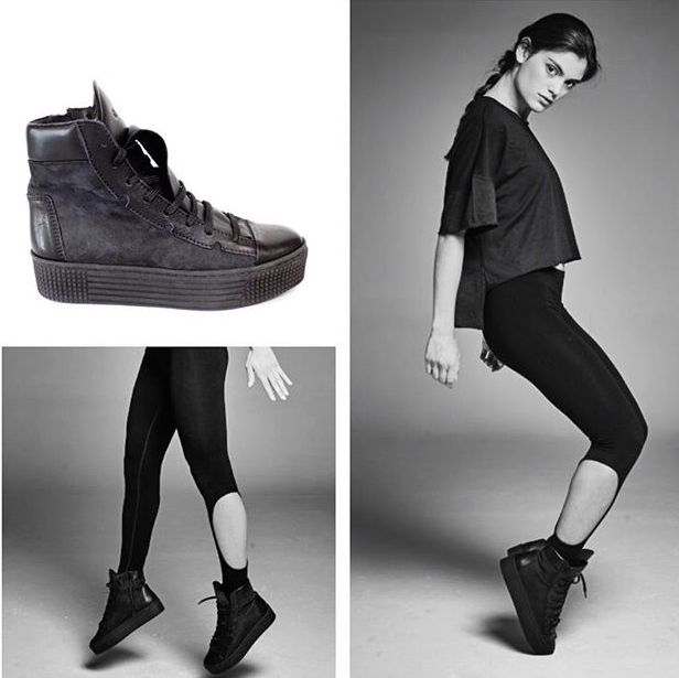 URBAN WARRIOR. A bit of a #lift  for #Fall  in @Glamazonsofficial's platform leather trainers. Scoop up your own pair fast, these new arrivals are selling  like hot cakes! #wecreateharmony #glamazons #platforms #sneakers