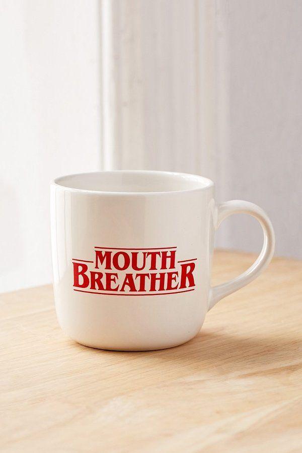 Graphic Mug funny stranger things font coffee white warm