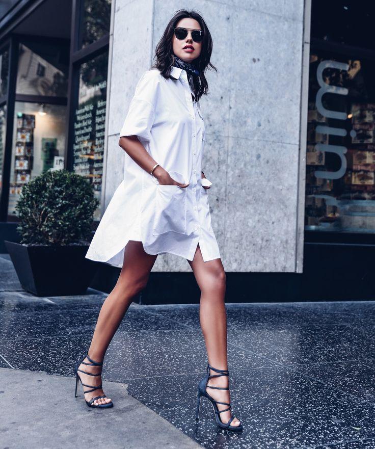 It's all in the jeans – Annabelle Fleur of Viva Luxury shows off her best blues in denim stilettos.