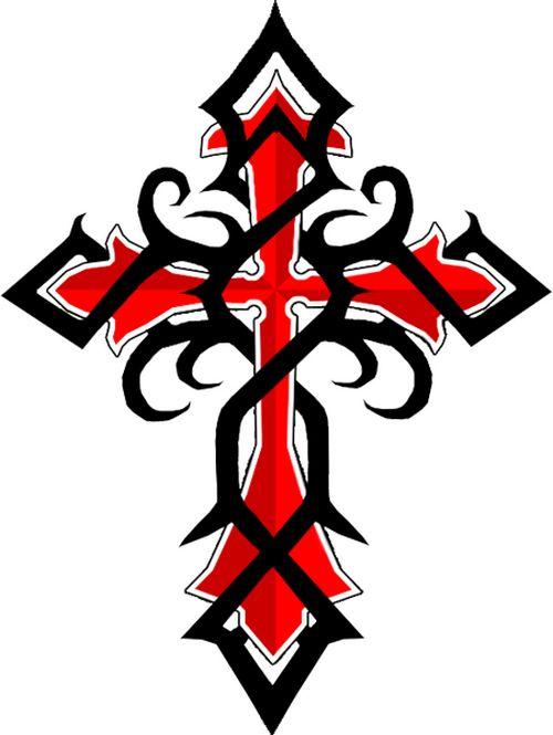 Tattoos of Tribal Cross: Black Red Celtic Cross Tattoos ~ tattooeve.com Tattoo Design Inspiration