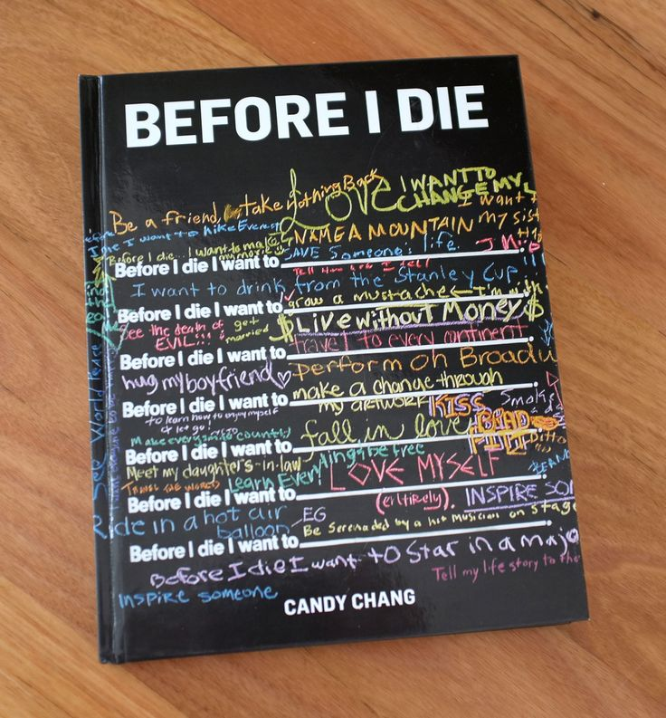 Before I die by Candy Chang #beforeIdie #candychang #book #zincmoon http://www.zincmoon.com/?p=1353