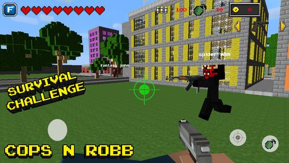 Top iPhone Game #85: Cops N Robbers™ 2 (Original) - Mini Block Survival Game & Worldwide Fight Multiplayer with skins exporter for Minecraft (PC Edition) - Nora Blaha by Nora Blaha - 02/27/2014