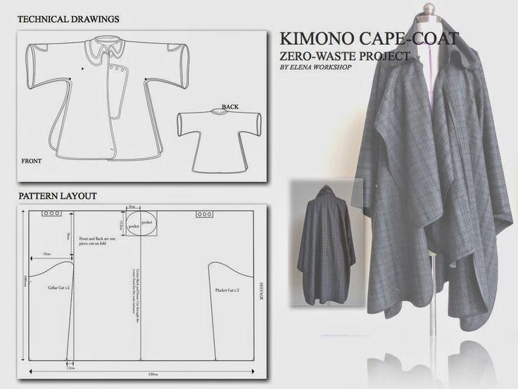 Zero-Waste, Kimono Cape-Coat Have to make one