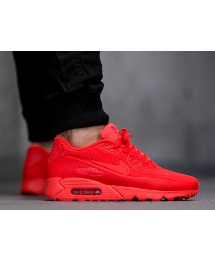 a41cd5f1f3 Nike Air Max 90 Ultra Moire All Red Trainers Mens Sale UK | nike air ...