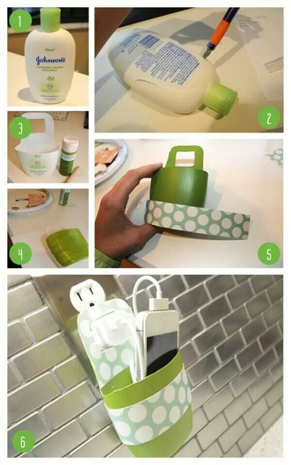 Diy phone charger holder interesting ideas pinterest Charger cord organizer diy