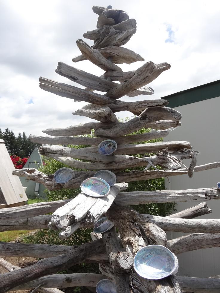 Amazeme has turned Drift Wood and Paua shells into a Christmas tree  http://www.amazeme.co.nz/