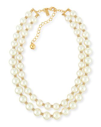 pearly two-strand necklace, cream by kate spade new york at Neiman Marcus.