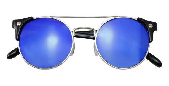 Gafas redondas con cristal azul