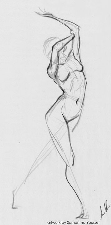 A quick 30 second gesture. Derwent Drawing Pencils on Newsprint.