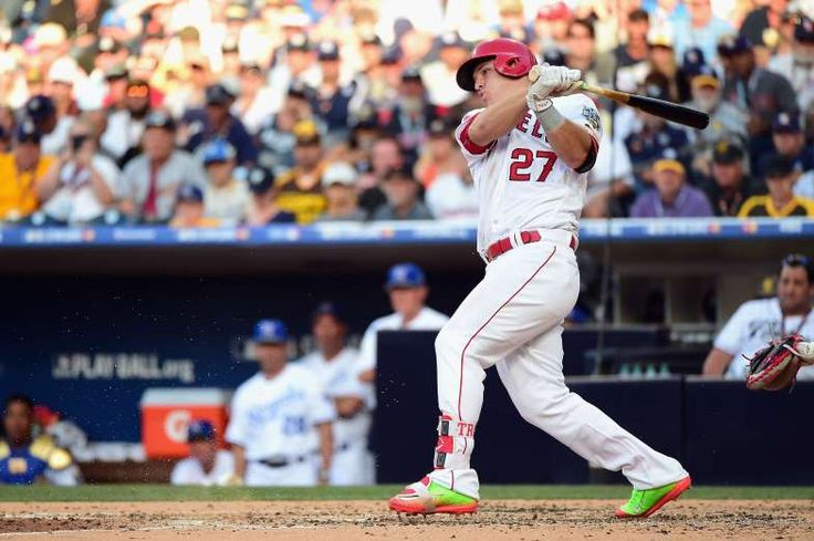 Most memorable moments in MLB All-Star Game history  -  July 10, 2017:      2016: MIKE TROUT MAKES IT FIVE IN A ROW  -    2016 was Mike Trout's fifth straight All-Star Game appearance, and for the fifth straight time, he got a hit in his first at-bat, which is a record. He also has a career cycle for the All-Star Game.