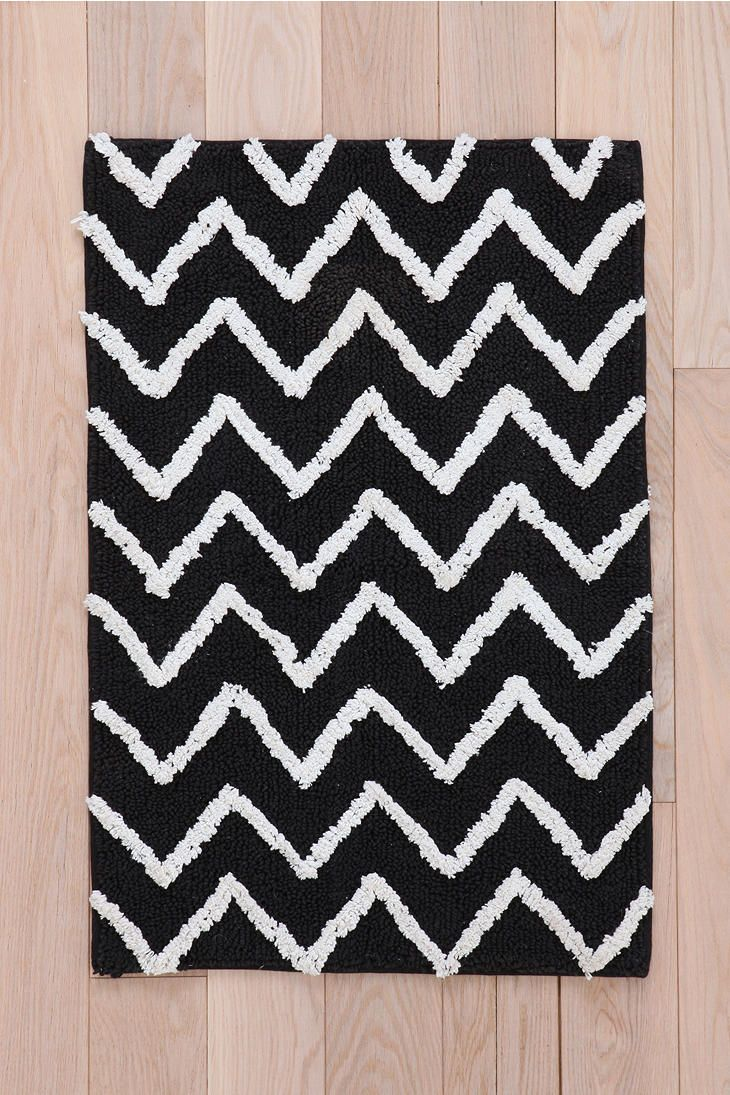 Best Bath Rugs Images On Pinterest Bath Rugs Bath Mat And - Black and white chevron bathroom mat for bathroom decorating ideas