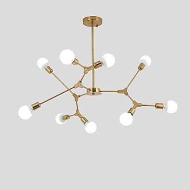 Northern Europe Vintage Chandelier 9 head Metal Molecules Pendant Lights Living Room Dining Room Bedroom