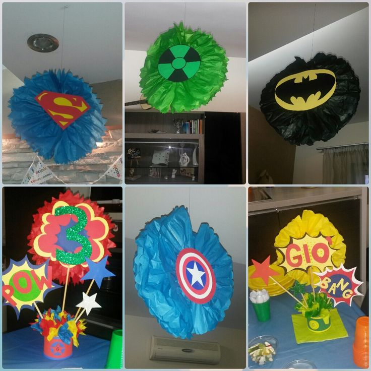 Decori festa. Tema supereroi