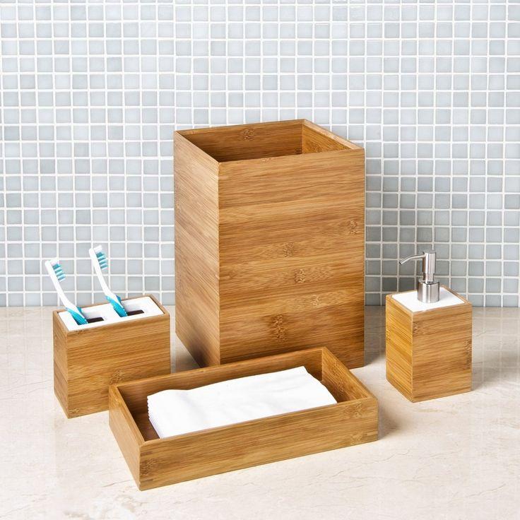 bamboo bathroom decoration accessories for: classics bamboo bath  | wooden bathroom