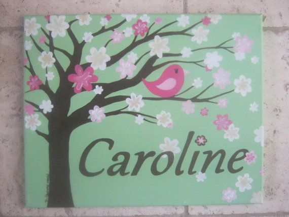 Nursery painting personalized canvas for by CarrieSweeneyArt, $85.00