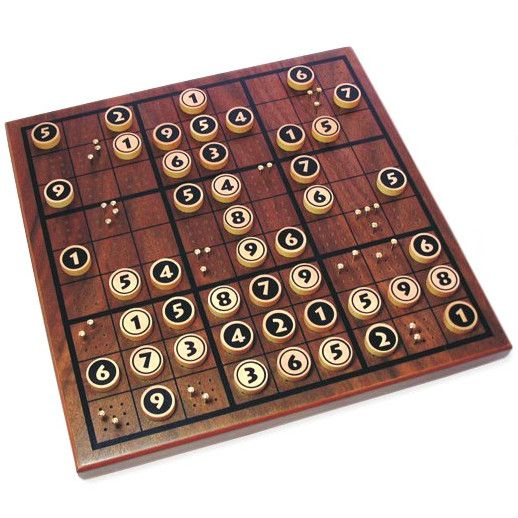 Wooden Sudoku! i know it's nerdy but i need this!!!