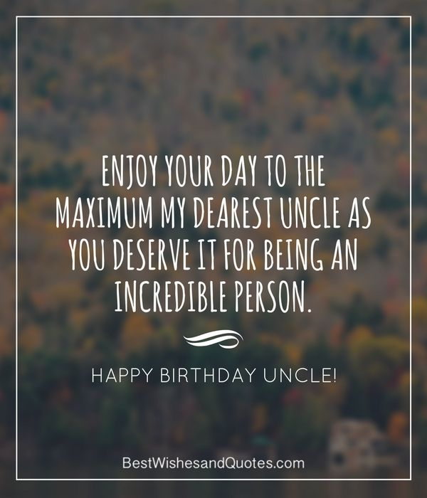 Best Wishes Happy Birthday Uncle