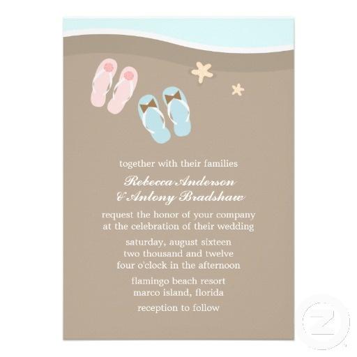 49 best Flip Flop Wedding Invitations images on Pinterest Invites