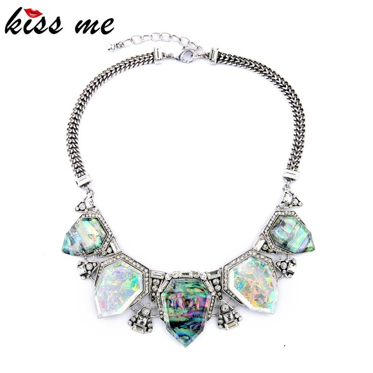 Exaggreated Luxury Designer Jewelry Geometric Artificial Gems Pendants Maxi Choker Necklace