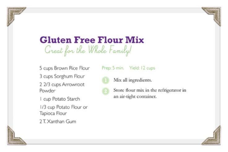 Shoshanna's GF flour blend recipe. A gluten-free flour that works in regular recipes.