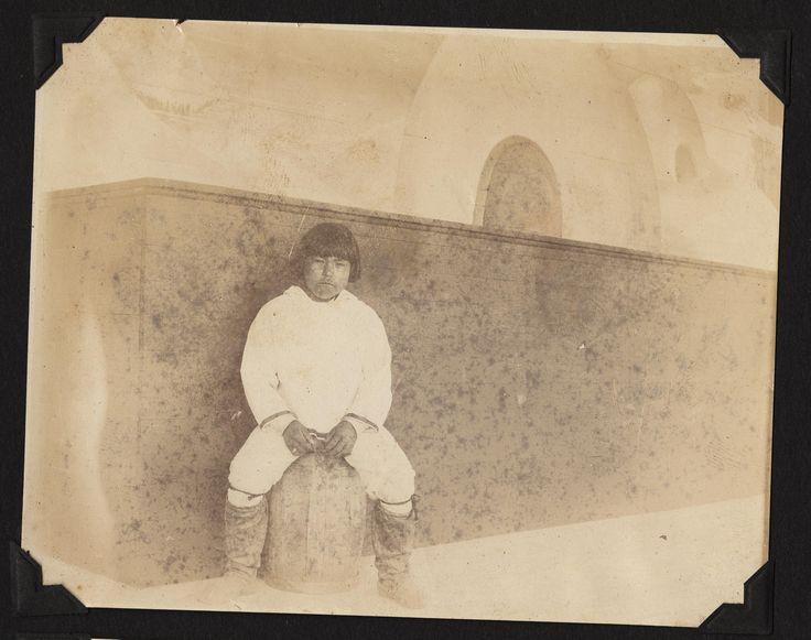 eskimeaux child from village display