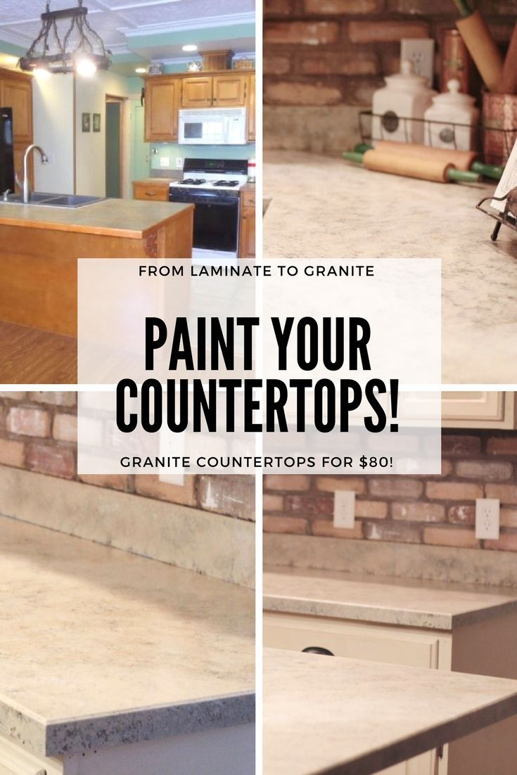 Painted Countertops How-To: From Laminate to Granite | Pinterest