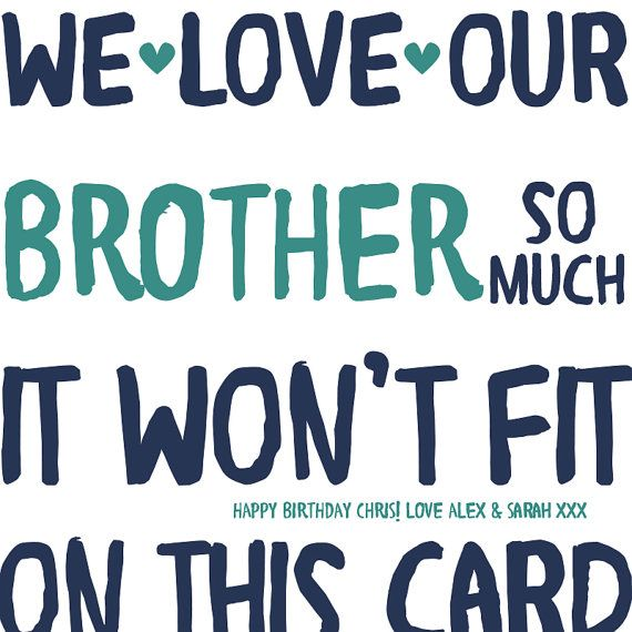 Funny Brother Birthday Card card for brother funny card