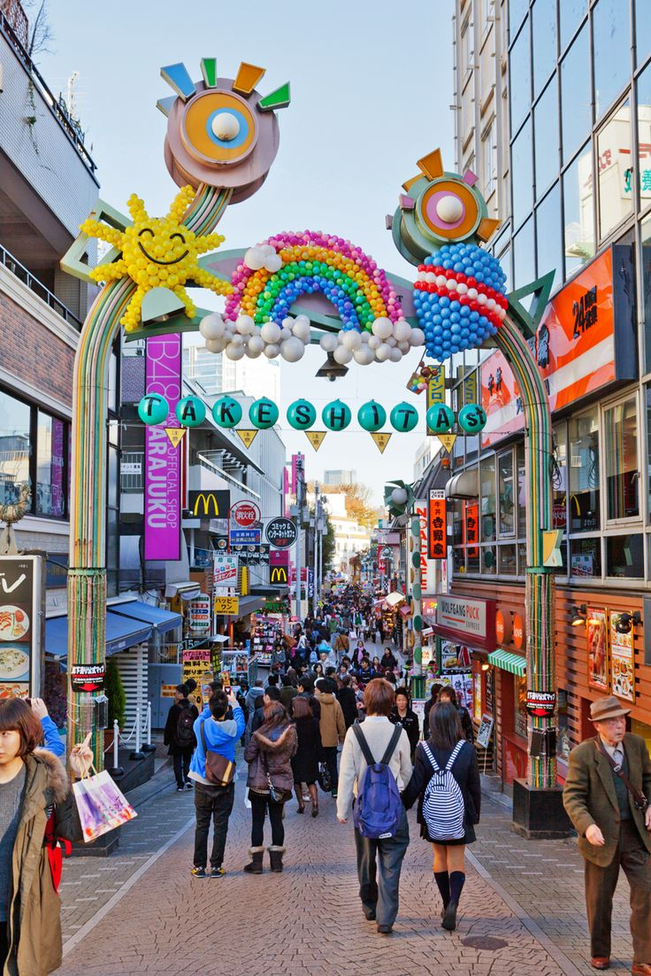 Takeshita Street in Harajuku, Japan