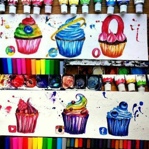 Social Media Drawing Cupecakes