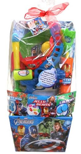 55 best comic book crafts images on pinterest comic book crafts pre made easter basket for boys avengers easter basket at toys r us negle Images