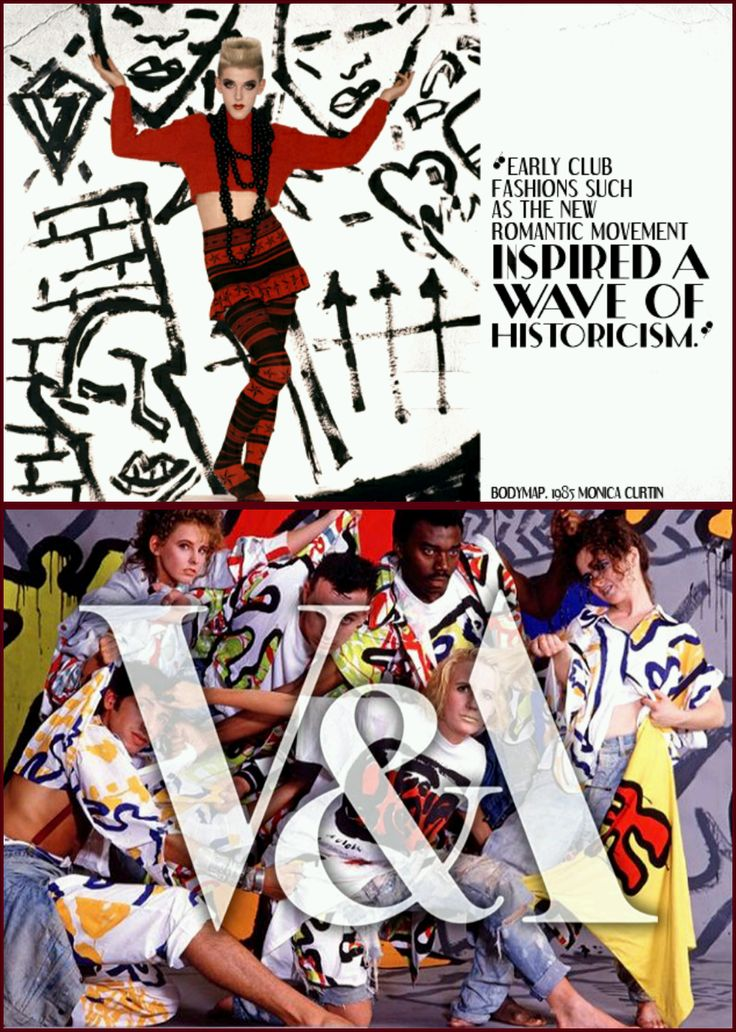 """Advertisements for the great V&A exhibition """"Club to catwalk"""" and what I like most about this advert is the great use of colour and pattern, very representative of 1980s street fashion culture"""