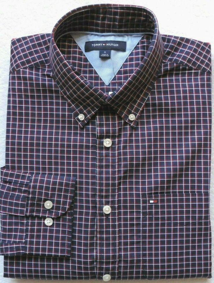 Tommy Hilfiger Men's Plaid ButtonDown Shirt Size M