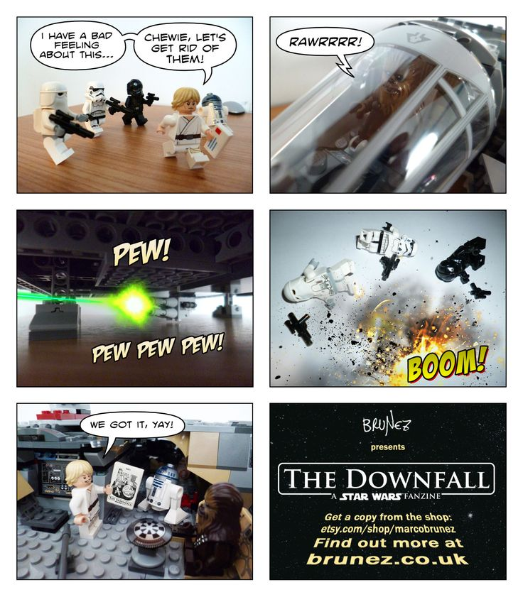Luke Skywalker is stealing something from the Empire, but not the Death Star plans or similar amenities: it is my fanzine! More details here: http://brunez.co.uk/post/143694693586/16-pages-containing-an-illustrated-star-wars  Available from Etsy: https://www.etsy.com/uk/listing/290424945/the-downfall-a-star-wars-fanzine