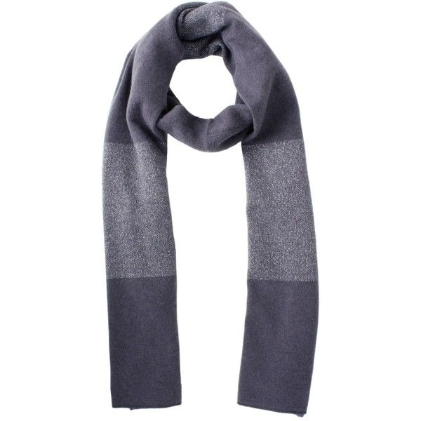 Fabiana Filippi Woman Grey-silver Scarf (181,680 KRW) ❤ liked on Polyvore featuring accessories, scarves, gray scarves, silver shawl, silver scarves, grey scarves and grey shawl