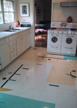 Retro Kitchen Flooring 2083 best my red & mint vintage kitchen images on pinterest