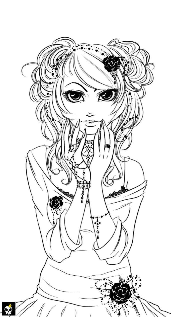 Color lineart in photoshop - Black Pearls Lineart By Karincoma