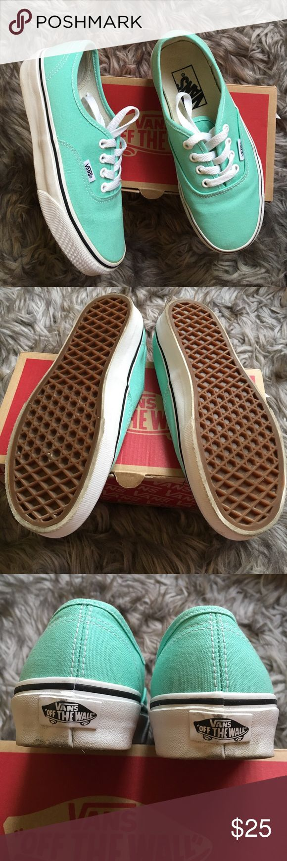 Mint Vans Shoes Worn once literally. Comes with Box. Vans Shoes Sneakers