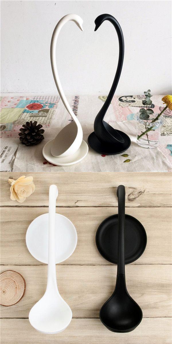 Practical PP Elegant Swan Style Ladle