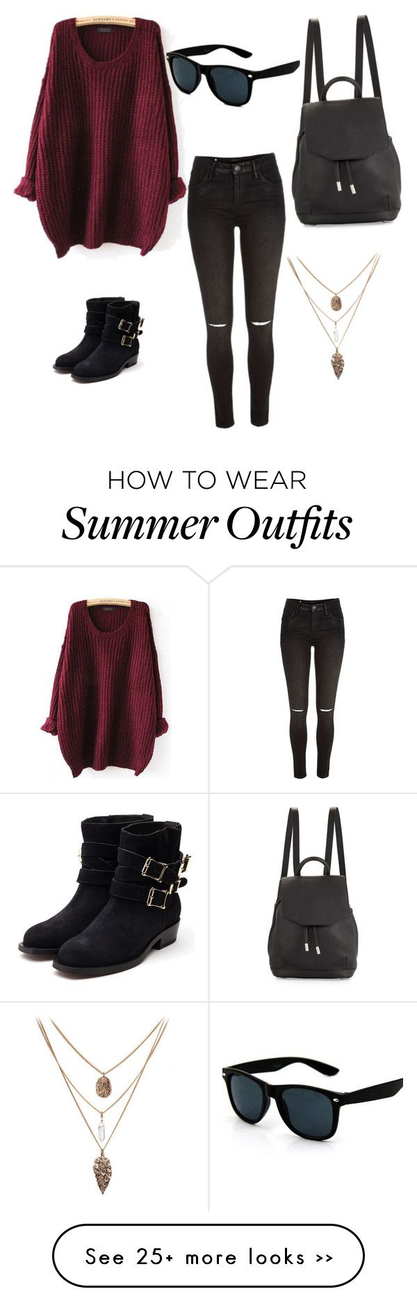 """""""Fall love"""" by alexisloya on Polyvore featuring River Island, Rupert Sanderson and rag & bone"""