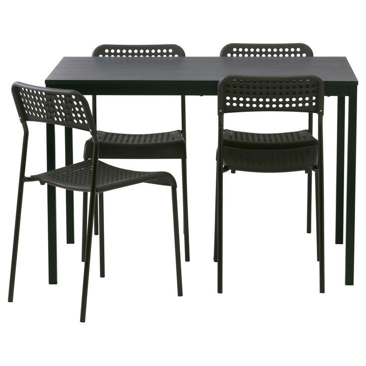 TARENDÖ/ADDE yemek masası ve sandalye seti siyah  | IKEA Yemek Odaları