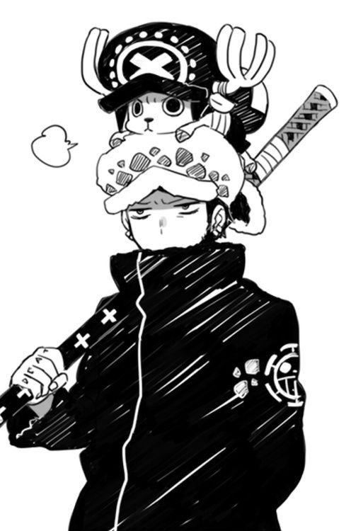 One Piece - Trafalgar law and Chopper XD